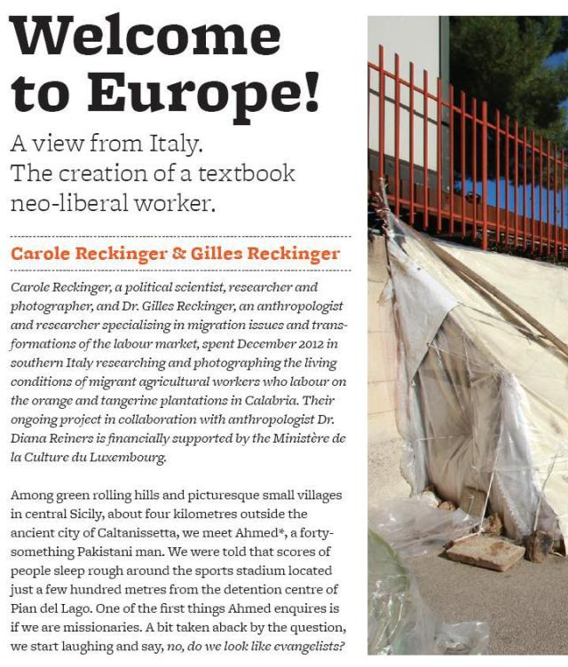 """Detail from """"Welcome to Europe!"""", by Carole Reckinger & Gilles Reckinger, Issue 1"""