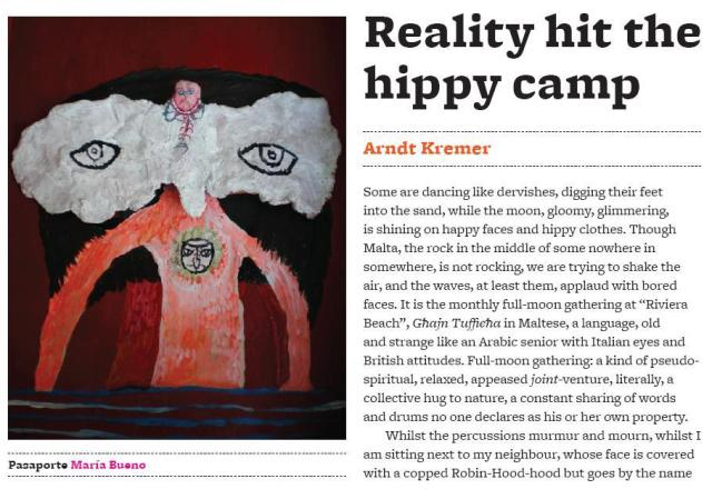 'Reality hit the hippy camp', By Arndt Kremer
