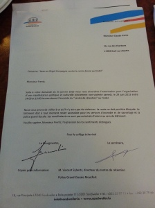 Authorisation of event by Sandweiler local council