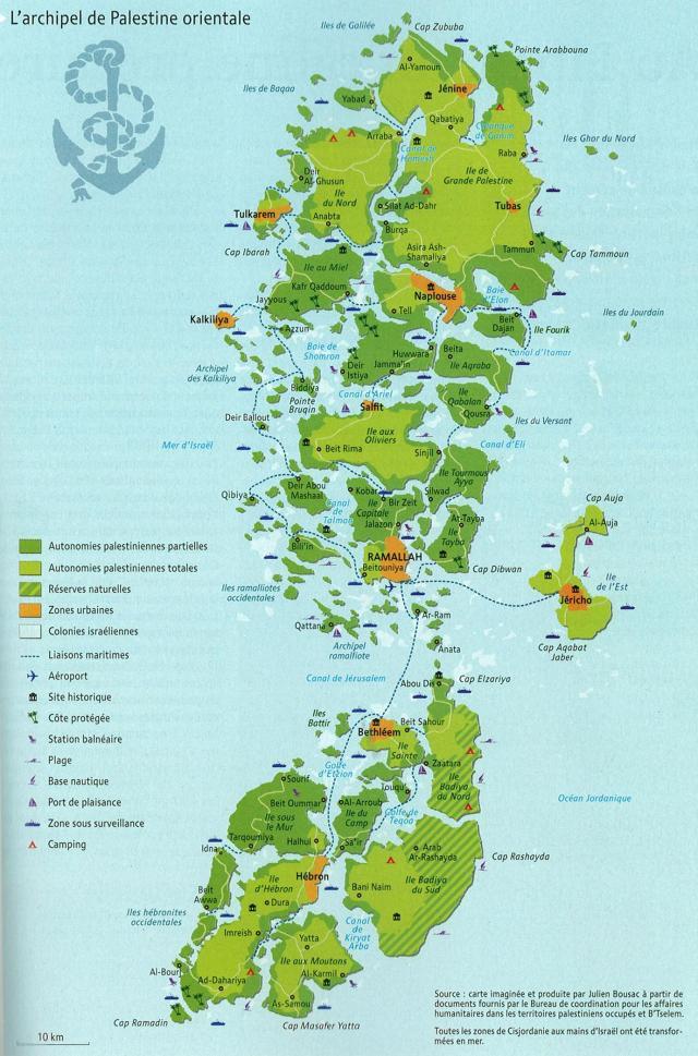 L'archipel de Palestine Orientale, Julien Boussac, Atlas du Monde Diplomatique 2009